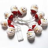 Xinfang Halloween Christmas 10 LED String Light Snowman Santa Claus Fairy Light Party Home Decor (Warm White)