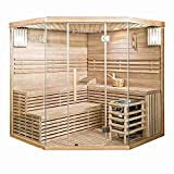 Home Deluxe - Traditionelle Sauna - Skyline XL Big - Holz: Hemlocktanne - Maße: 200 x 200 x 210 cm - inkl. komplettem Zubehör