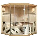 Traditionelle Saunakabine/Finnische Sauna Espoo 180 x 180 cm 8 kW | Artsauna