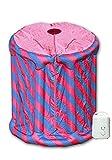Die mobile Dampfsauna - Minisauna Svedana pink/blau aufblasbar Dampferzeuger mit 850 W und 1,5 Liter