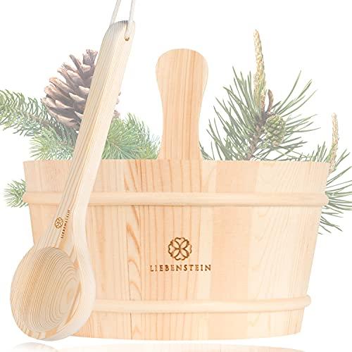 Liebenstein® Sauna Eimer mit Kelle [4L]...