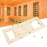 Emoshayoga mit einstellbaren Luftspalten Undurchlässige Lüftungsöffnung Holzlüftungsgitter aus massivem Saunazubehör mit glatter Kante für das Dampfbad