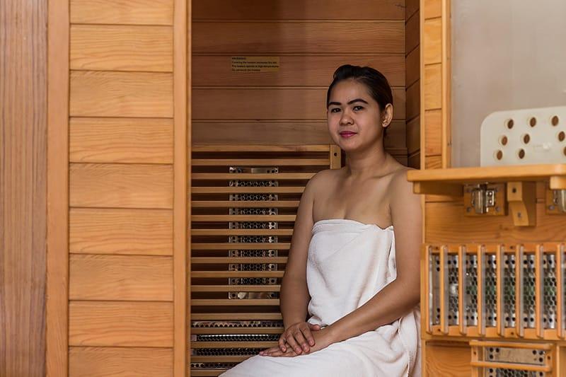 Platzsparend kompakt gesund - die Infrarot Wärmekabine für eine Person